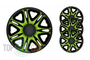 J-TEC (Jacky Auto Sport) Колпаки Nascar Green&Black R13