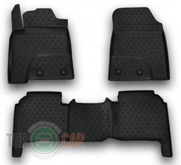 Глубокие коврики в салон Lexus LX570 2012-  5 мест