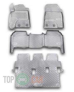 Глубокие коврики в салон Toyota Land Cruiser 200 2012-  7 мест