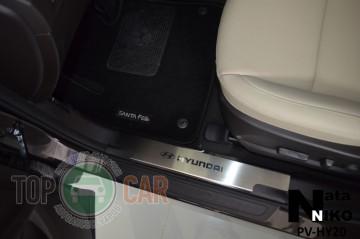 Накладки на внутренние пороги Hyundai Santa Fe/Grand Santa Fe 20