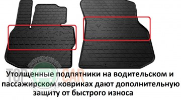 Stingray Коврики резиновые Honda HR-V 2018- ПЕРЕДНИЕ
