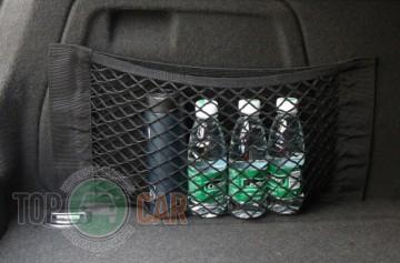 Сетка в багажник 30*25 см вертикальная на липучке (карман)