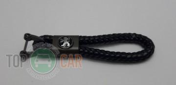 Artega Ѕрелок плетеный на ключи с логотипом Peugeot