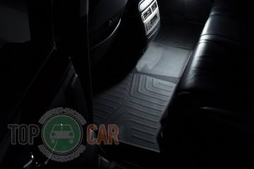 SRTK (—аранск) 3D LUX √лубокие резиновые коврики Toyota Land Cruiser 200/Lexus LX 570