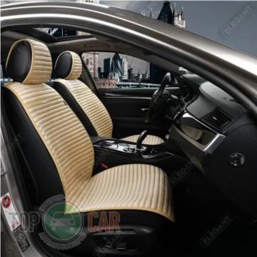 Elegant Универсальные накидки на сидения NAPOLI бежевые передние