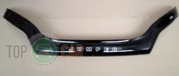 Дефлектор капота Citroen Jumper 2014- (с заходом на фары)