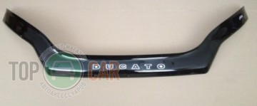 Дефлектор капота Fiat Ducato 2014- (с заходом на фары)