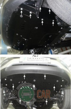 Кольчуга Защита двигателя Kia Sportage III 2010-2015 ZiPoFlex®, V 1.7D/2.0D