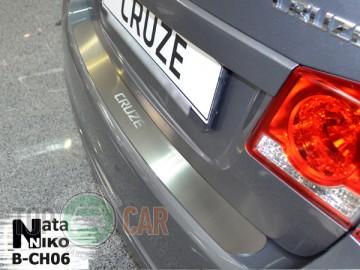 Накладка на задний бампер Chevrolet Cruze 4D 2008-2014