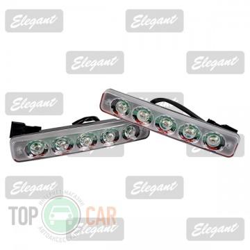 Elegant Дневные ходовые огни Maxi 1W*5LED, 190*30*45мм с автопереключателем света
